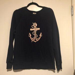 J. crew fashion sweatshirt (navy)